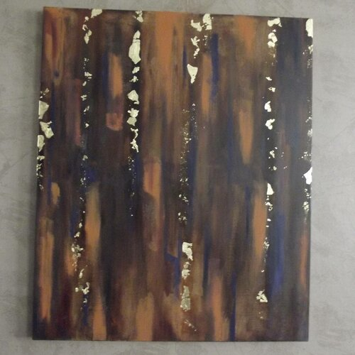 La forêt enchantée - huile sur toile de lin