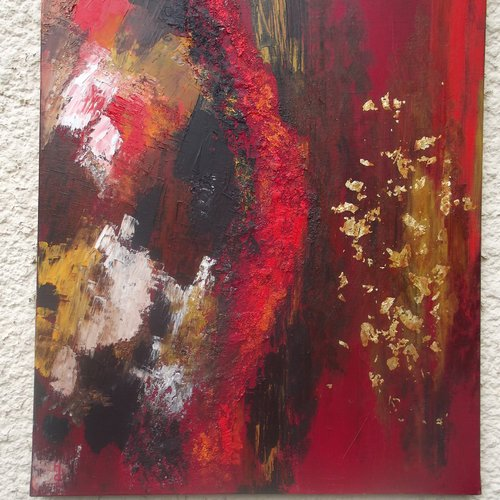 Du chaos vers la lumière peinture à l'huile