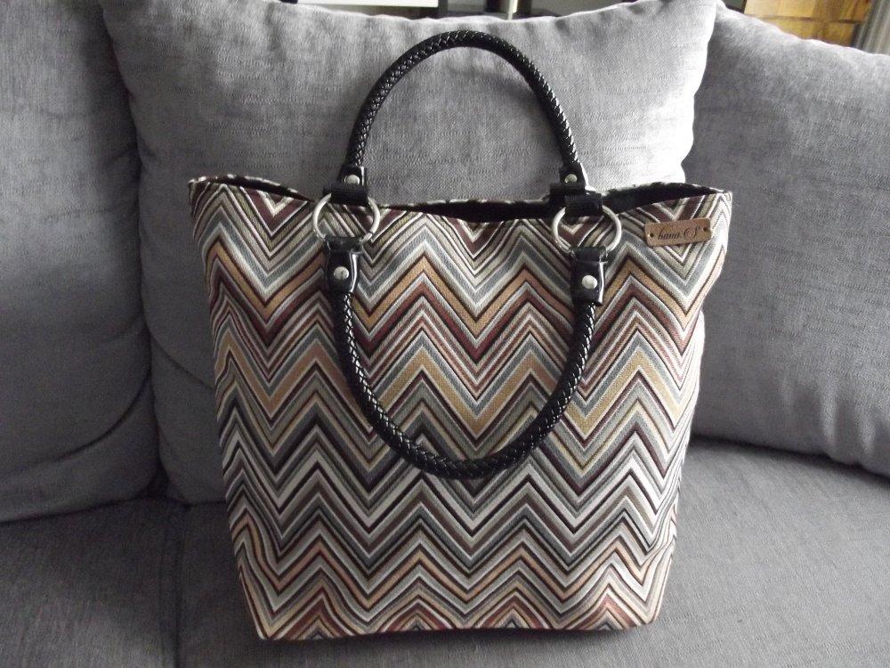 sac cabas fait main modèle unique