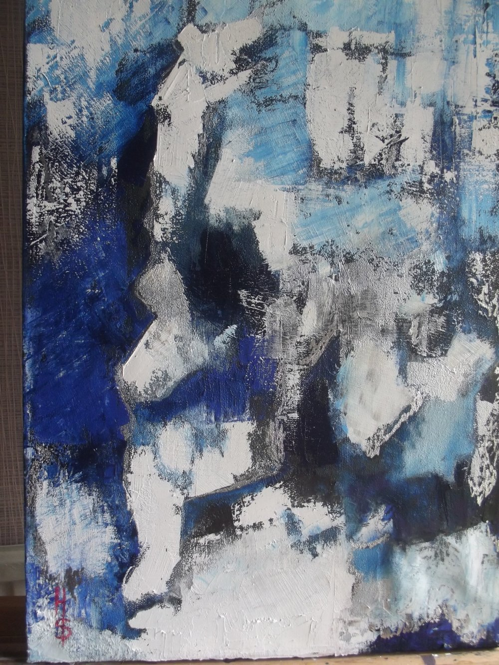 la fonte des glaces peinture à l'uile sur toile de lin