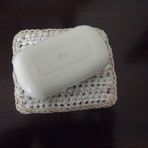 Porte savon fait main en coton bio
