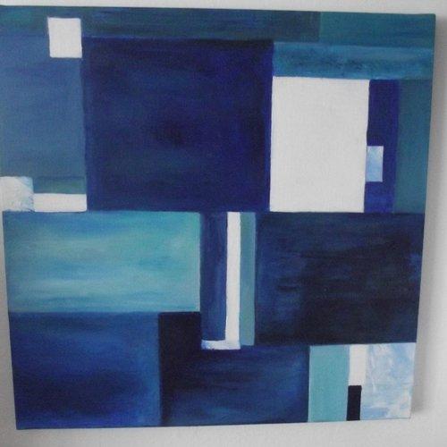 Oceans  peinture à l'huile sur lin style abstrait