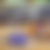 Boucles d'oreilles en kunzite et octaèdre violet