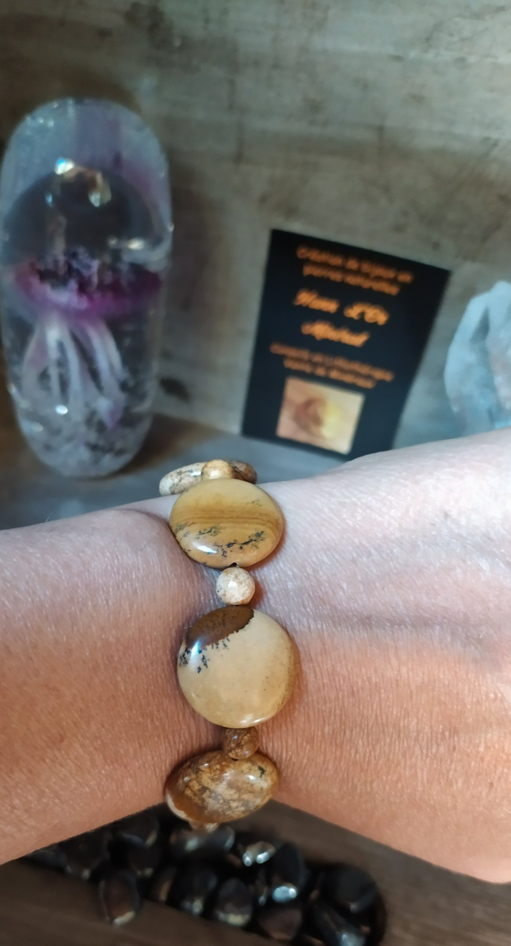 Bracelet Bijou de pierre naturelle en Jaspe Payasage