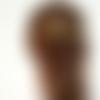 Peigne cheveux mariage rustique feuilles dorées, bijou cheveux de mariée