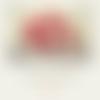 Lot de 10 perles rondelles acryliques coloris rouge