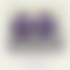 Lot de 2 breloques créoles acryliques coloris violet