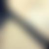 1 mètre de ruban satin noir motif coeurs blancs