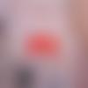 Lot de 2 petits cabochons résine en forme de nounours coloris rouge
