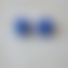 Lot de 2 perles dé à jouer acryliques coloris bleu et blanc