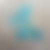 Patch thermocollant en tissu motif âne ou zèbre coloris bleu