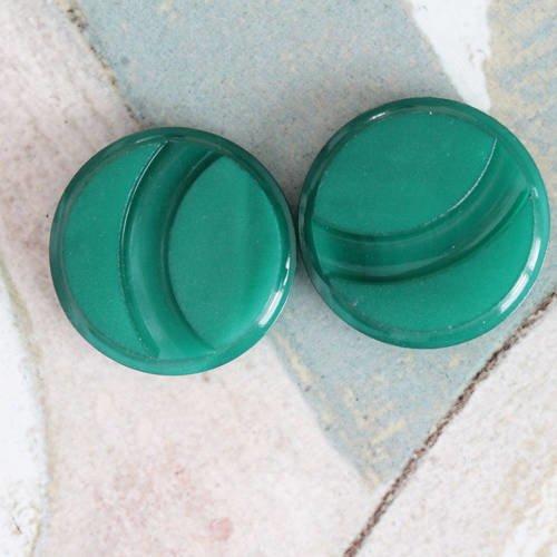Boutons ronds verts, mercerie verte, 890