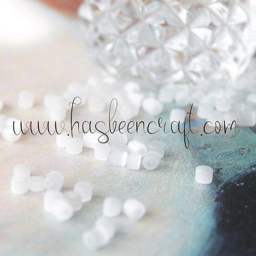 Perles rocaille blanche ancienne*100, 5 mm irrégulières, perles tchèques anciennes, en verre blanc nacré, 2283
