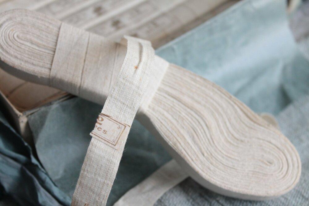 1 rouleau de Percale Jaconas ancien, rouleau blanc de 12 m, ref2052