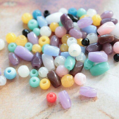 30 perles en verre anciennes françaises, bapterosses, emaux de briare, à broder ou pour la fabrication de bijoux,1283