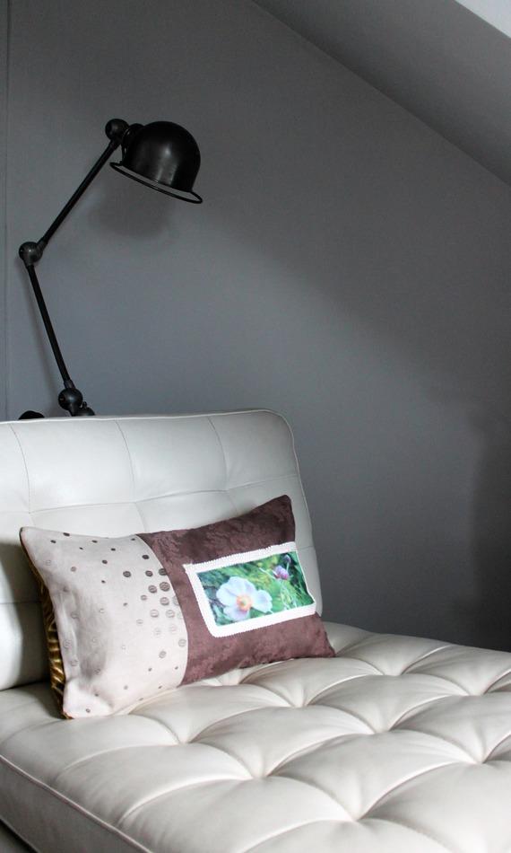 Coussin double déhoussable,50 x 30 cm, lin et velours CASAMANCE CASADECO