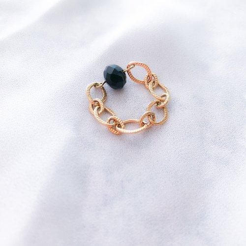 Bague lina (noire)