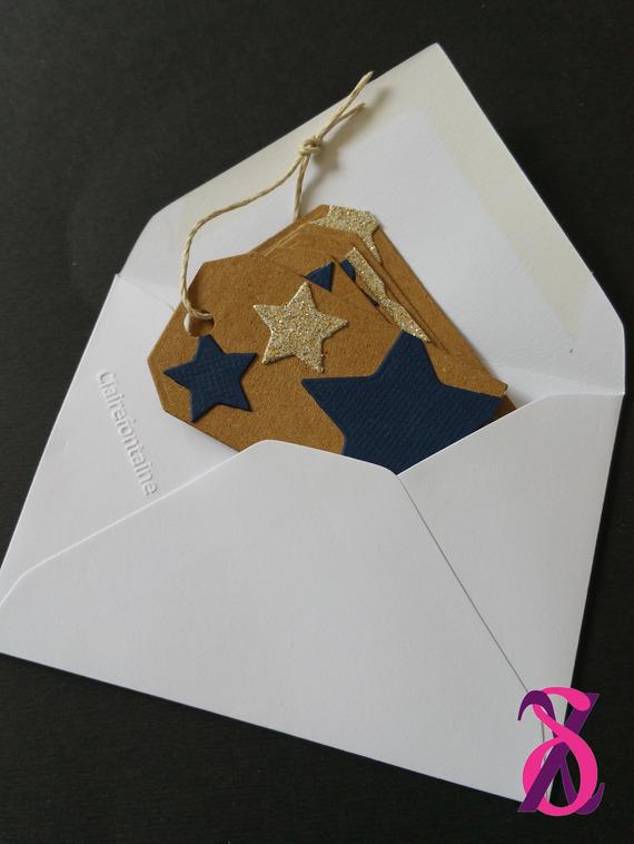 Mini faire-part de naissance thème étoile (garçon)