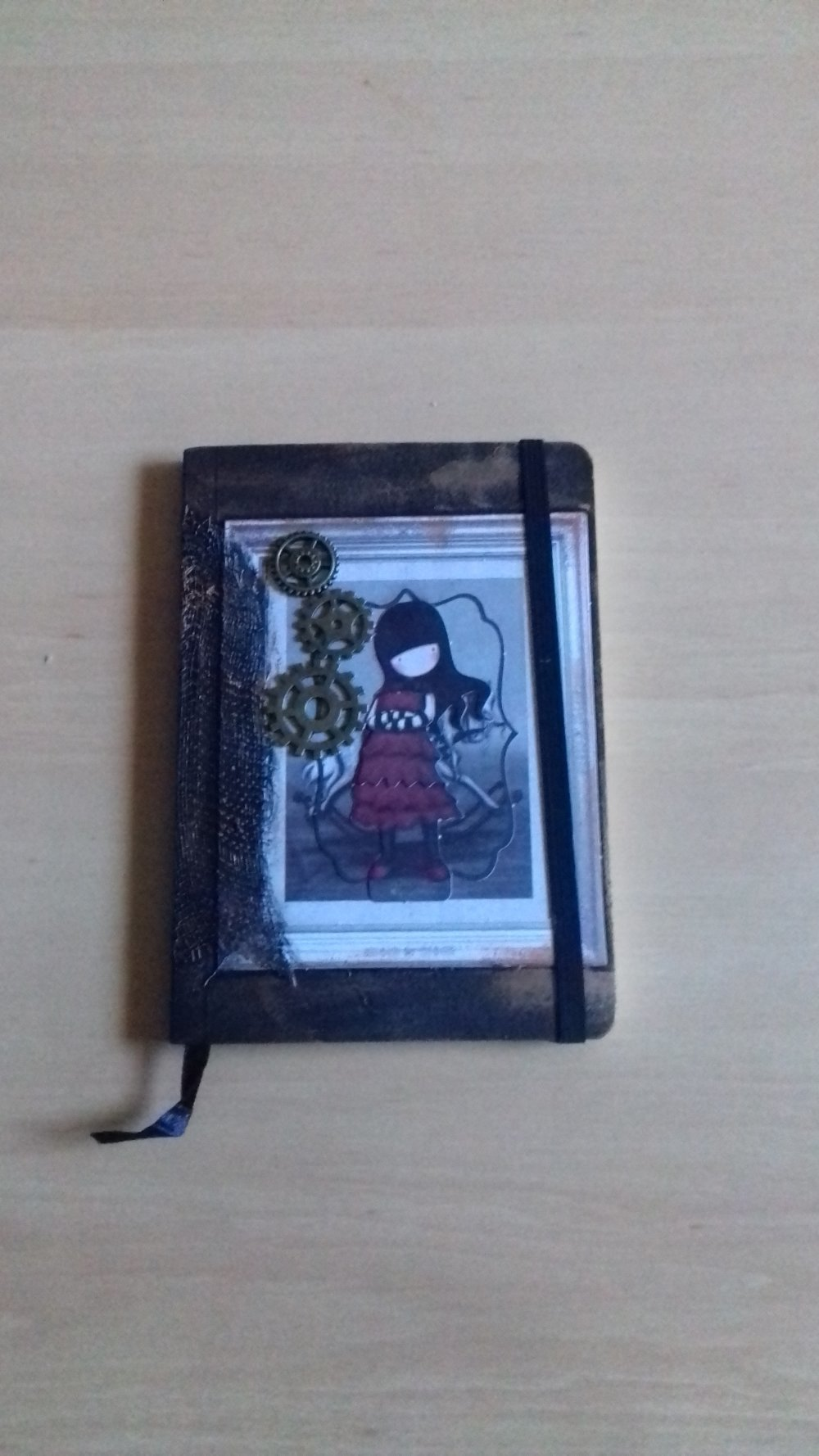 "Carnet A6 ""Fille rouge"""