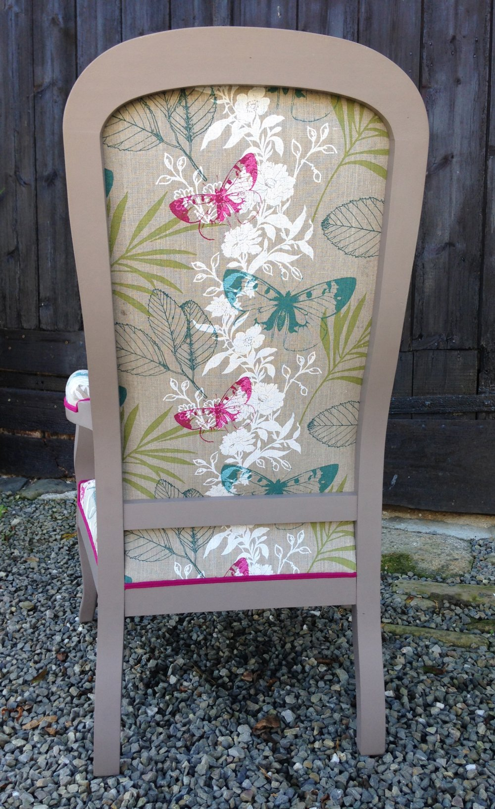 "Fauteuil Voltaire ""Mme Butterfly"""