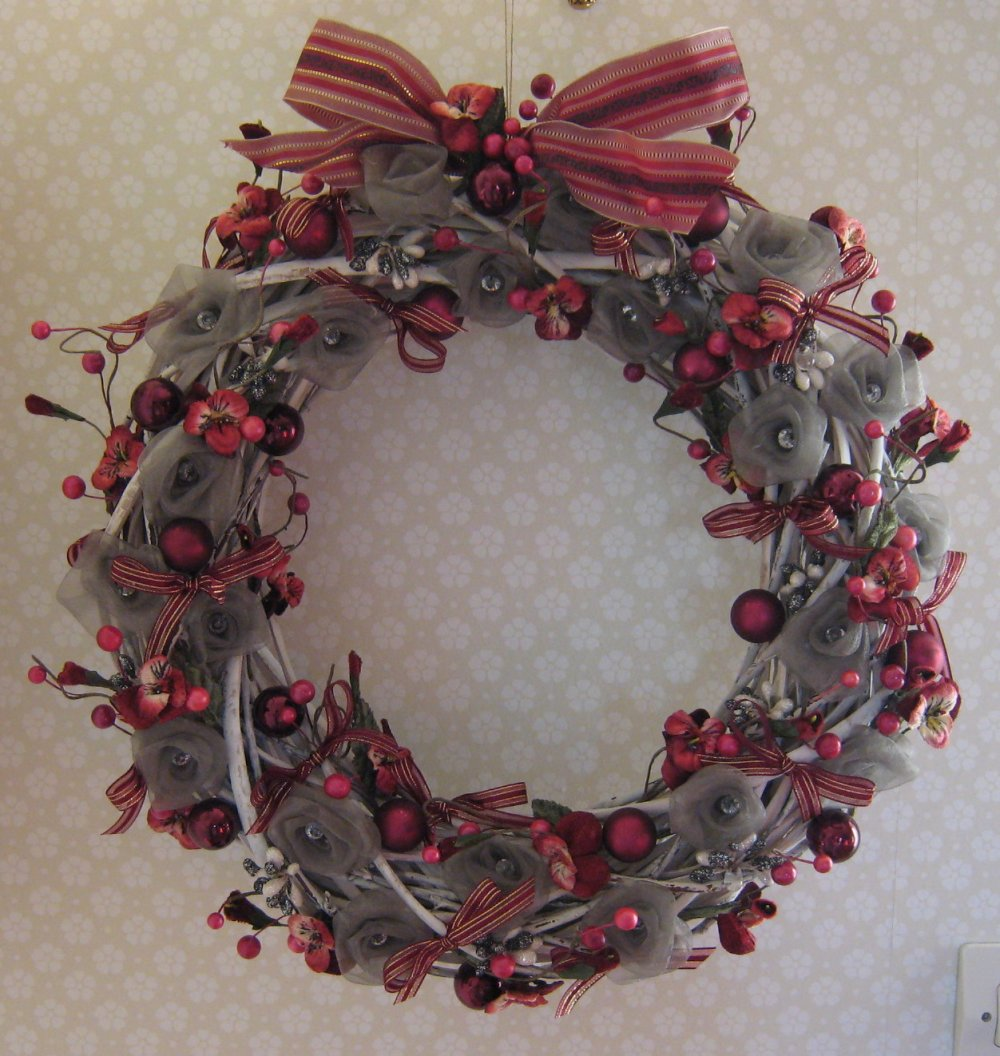 Couronne de Noël, déco de Noël