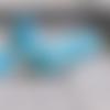Lot howlite imitation turquoise cabochons perle et cristal
