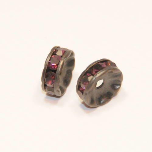 100 perles Acryliques plates Rodelles marguerite 10mm mix couleurs  DIY Bijoux