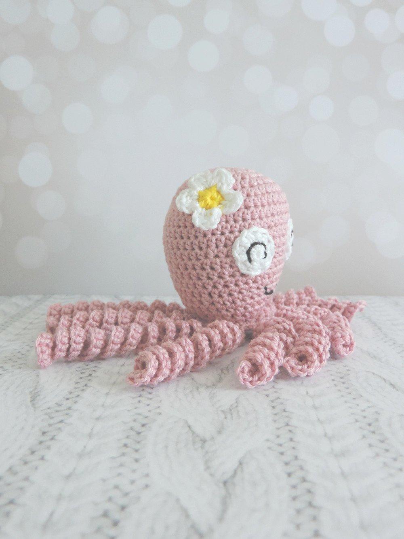 Sur commande Pieuvre crochet peluche, personnalisable, peluche decorative, coton, pieuvre fait main, amigurumi, animaux mignons