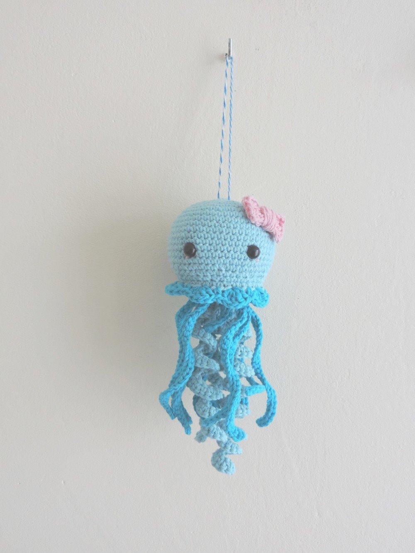 Mobile bebe mural meduse chambre bébé, enfant, decoration fait main,  animaux marins