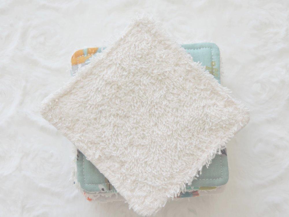 Lingettes lavables Certifié OEKO-TEX® zéro déchet originales, cadeau naissance, fait main, maman écolo démaquillantes ou toilette