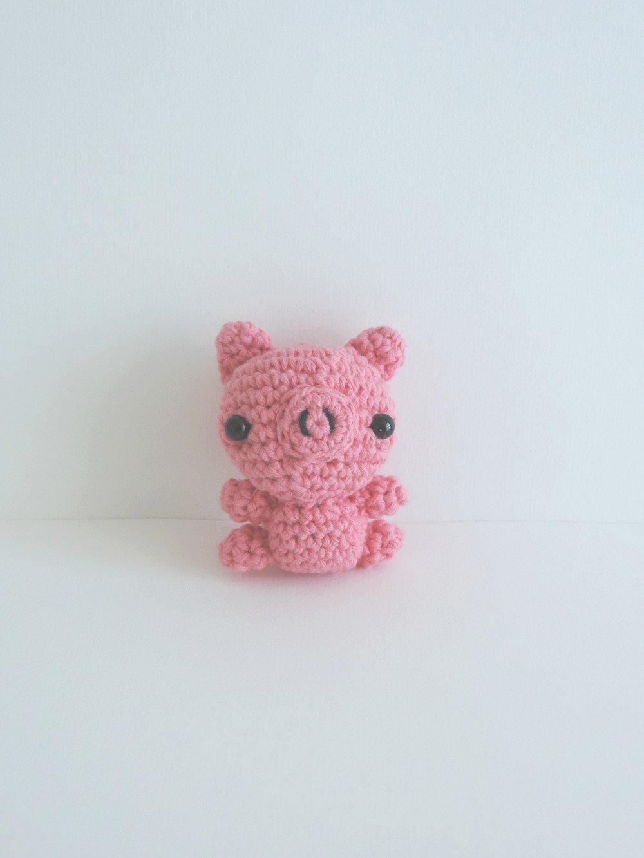 Porte clés cochon, crochet peluche miniature, fait main, cadeau anniversaire, fête des mères, adorable cochon, cadeau femme homme