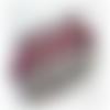 Trousse ou pochette rectangle - tons gris et violet (lie de vin)