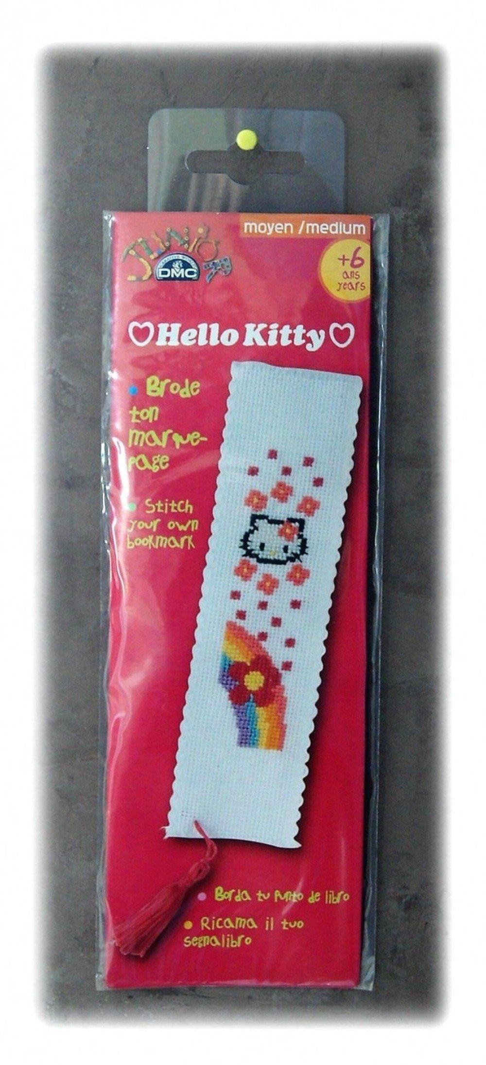 Kit de broderie marque page arc en ciel Kitty