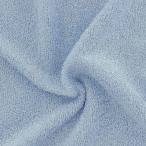 Tissu éponge de bambou  bleu ciel