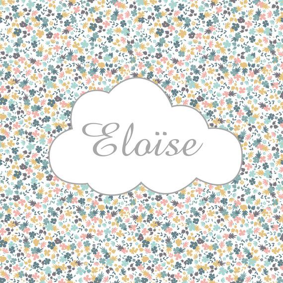 Tableau liberty nuage  personnalisable  par le prénom