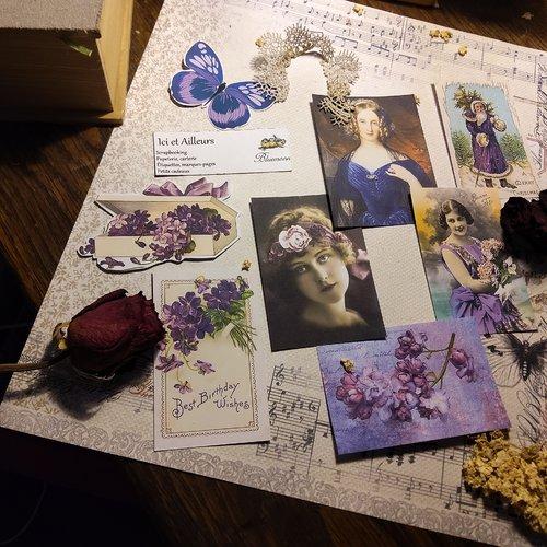 Lot 8 images variées, découpes papier loisirs créatifs, scrapbooking, création cartes, embellissements, étiquettes, papeterie