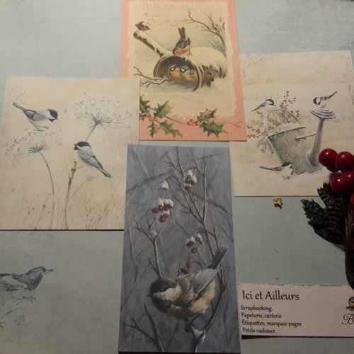 Lot 4 images, cartes,  papier fantaisie,  scrapbooking, loisirs créatifs,  papeterie, cartes.