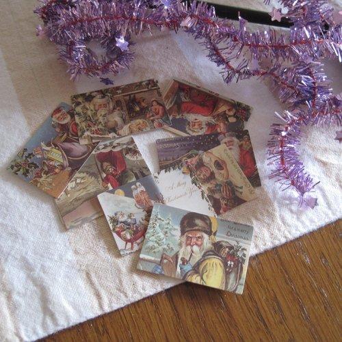 Images vintage, images noel, embellissements, tags, tag pere noel