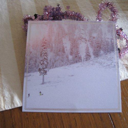 Papier scrapbooking, papier noel, image nature