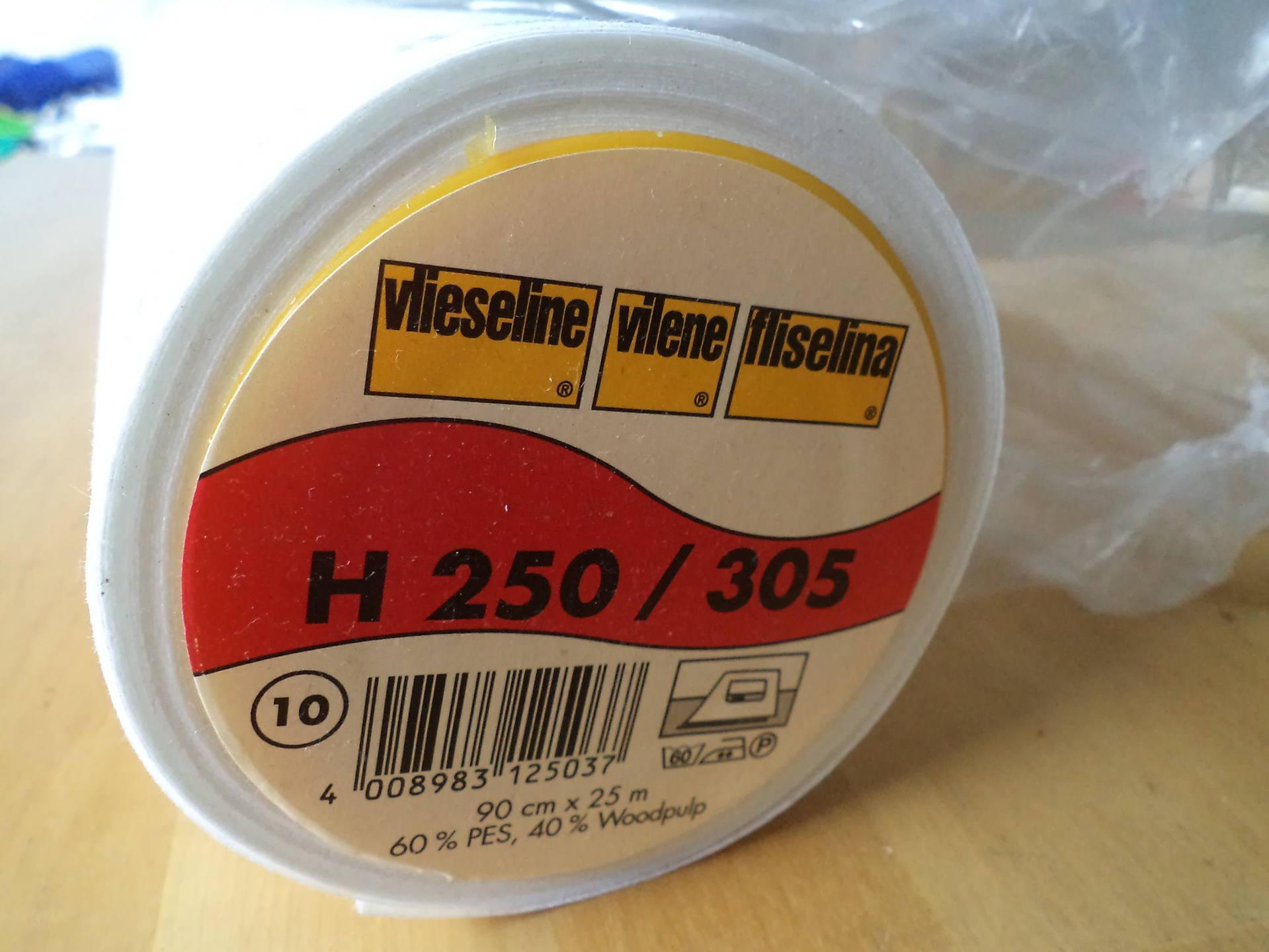 Noir Par 50 cm Vlieseline Entoilage Thermocollant H250