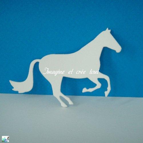 Découpe cheval, mammifère équidé, crinière, jument, poulain, embellissement, déco, découpe en papier dessin