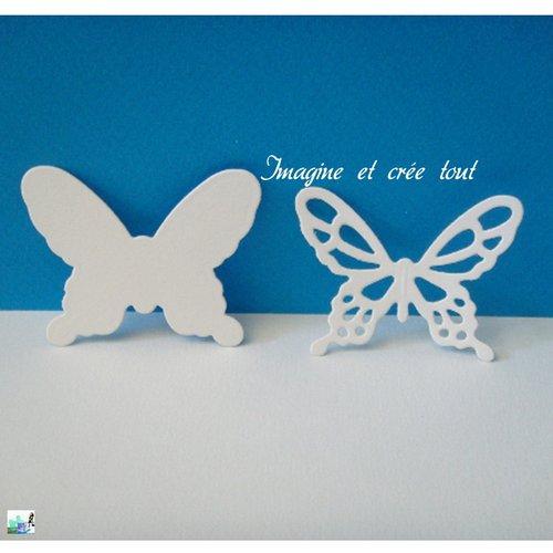 Lot de 2 papillons, insecte, ailes, chenille, jardin, prairie, embellissement, découpe en papier dessin