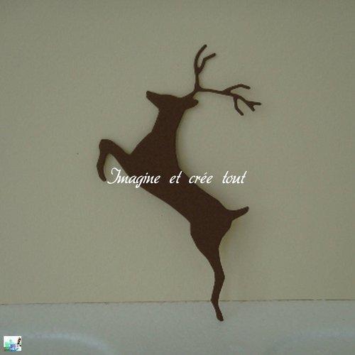 Découpe cerf, animaux sauvages, fôret, nature, scrapbooking, embellissement, déco, découpe en papier dessin