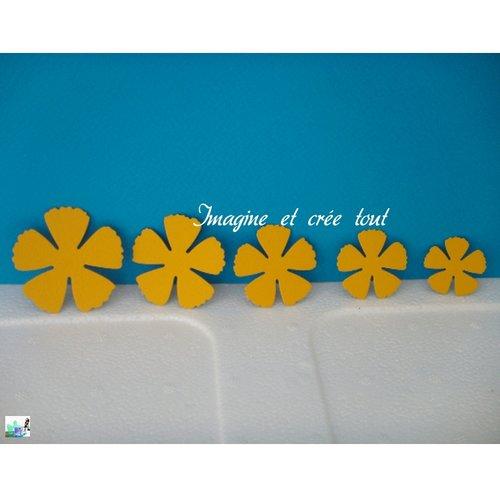 Lot de 5 pétales de fleurs jaune foncé, embellissement, déco, jardin, printemps, découpes en papier dessin