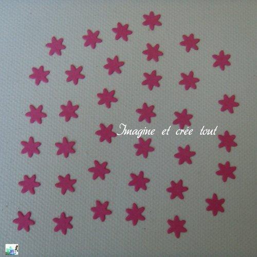 Découpes lot de 36 mini fleurs, embellissement, déco, scrapbooking, jardin, découpe en papier dessin
