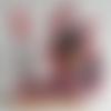 Tête de poupée porte crayon, stylo, feutre en tissu madras (vendu sans le feutre)