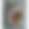 Kit carte faire part naissance bébé fille, embossée hibiscus,thème madras