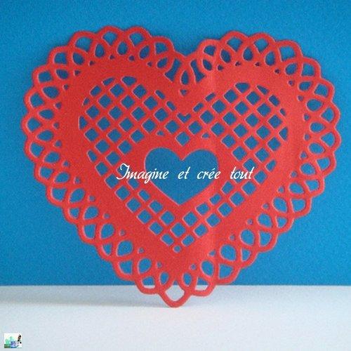 Découpe scrap, embellissement, déco, coeur, amour, love, découpe papier