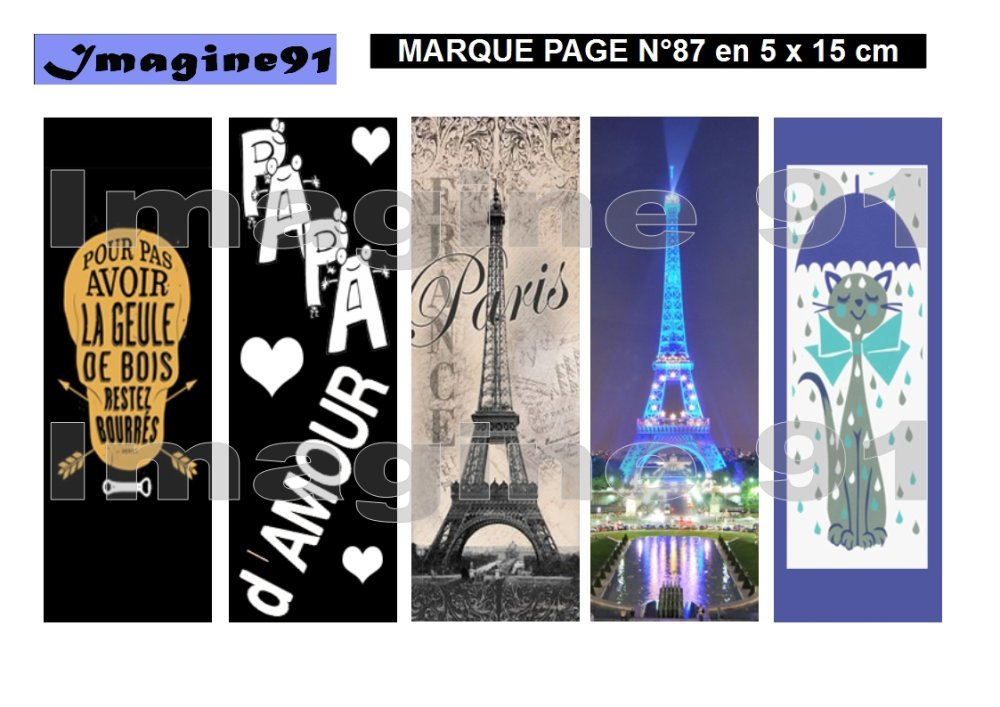 Marque page N°87