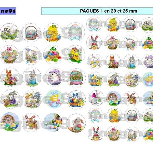 Images digitales paques 1 en 25-20 mm